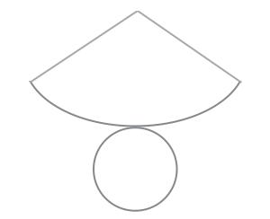 円すいの展開図の不思議。何で三角じゃないんだ?