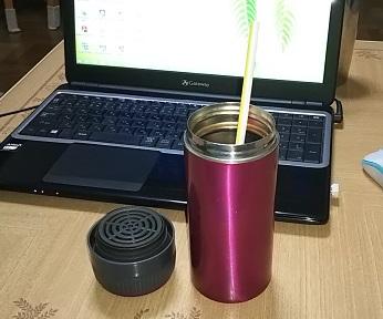 節約に水筒は必須アイテム!アイスコーヒーはストローで飲みたいので、ストロータイプのステンレス水筒を購入