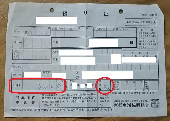生協の出資金が3万円も戻ってきました!